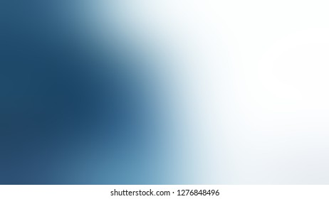 Gradient with White Smoke, Matisse, Blue color. Bizarre and bitmap blurred backdrop with smooth color degradation. Blank page template for a website or presentation.