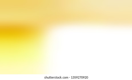 Gradient with White, Yellow, Pale color. Artistic and decorative blurred background with abstract style. Wallpaper on the desktop computer.