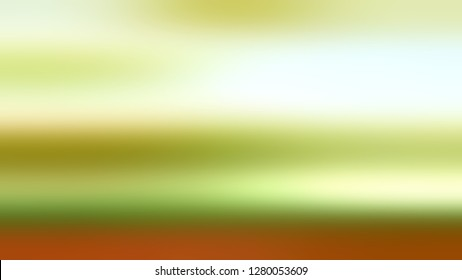 Gradient without focus and with Mint Julep, Brown, Beige color. Image of land and sky. Ambiguous and foggy blurred background with abstract style. Template for journal or book layout.