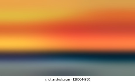 Gradient without focus and with Tree Poppy, Orange, Rolling Stone, Grey color. Image of land and sky. Attractive and mystical background with uniform smooth texture.
