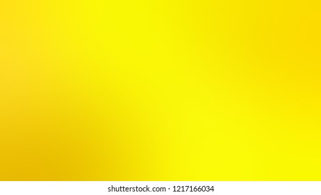 Gradient with Yellow, School Bus color. Beautiful simple blurred background with smooth transition of colors for banner.