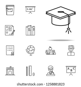 graduate's cap icon. education icons universal set for web and mobile