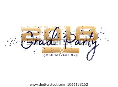 graduation label text graduation design congratulation stock