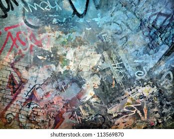Graffiti background, grunge illustration