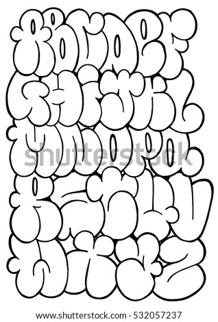 Royalty Free Stock Illustration Of Graffiti Letters Sketch Alphabet