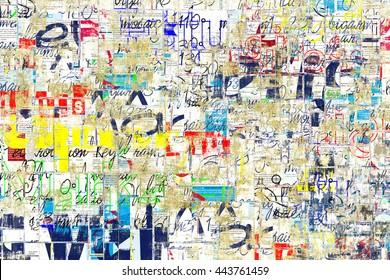 Graffiti street wall. Grunge wall
