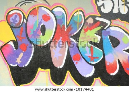 Graffiti Word Joker Happy Colors Stockillustration 18194401