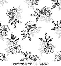 grafic flower pattern on white background