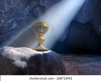 Grail in a cave