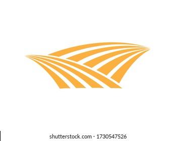 Grain field icon logo design