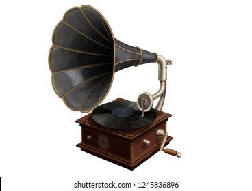 gramophone 3D illustration