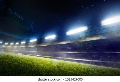 Grand night sport arena background in motion