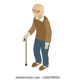 Grandad icon. Isometric illustration of grandad icon for web