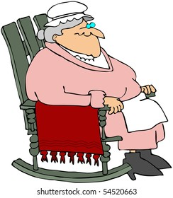 Grandma In A Rocking Chair