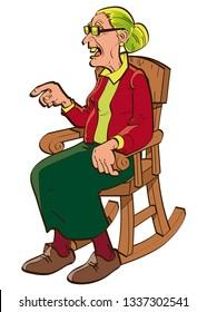 Granny on rocking chair