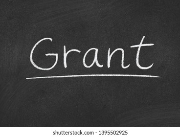 grant concept word on a blackboard background