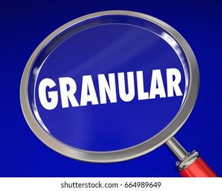 Granular Close Up Look Micro Details Magnifying Glass 3d Illustration