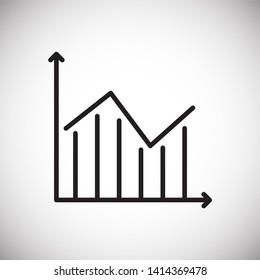 Graph line icon on background for graphic and web design. Simple illustration. Internet concept symbol for website button or mobile app