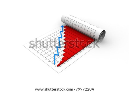 Graph Showing Rise Profits Earnings Chart Stock Illustration