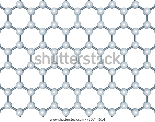 Graphene Layer Structure Top View Hexagonal Stock Illustration 780744514
