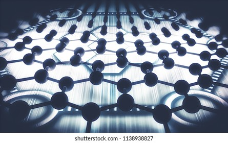 Graphene - Metamaterials - 2D Materials - Abstract Illustration