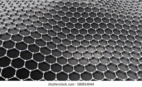Graphene molecular structure. 3D illustration