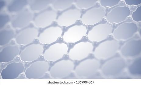Graphene and Nanotechnology research concept, Graphene based nanomaterials 3d illustration