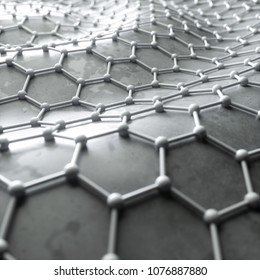 Graphene reinforcement of concrete, abstract art concept. 3d rendering, digital illustration