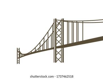 Graphic art of a bridge