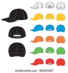 Graphic baseball cap in a variety of basic colors