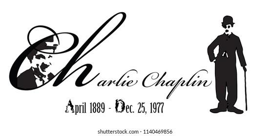 Graphic design of Chaplin Memorial