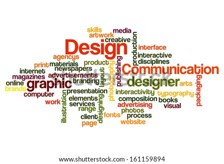 graphic design concept word cloud on stock illustration 161159894