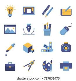 Graphic design icons,  symbols. Printing and graphic design icons.