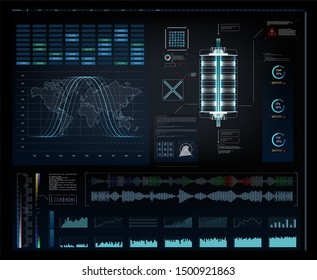 graphic futuristic user interface head up display