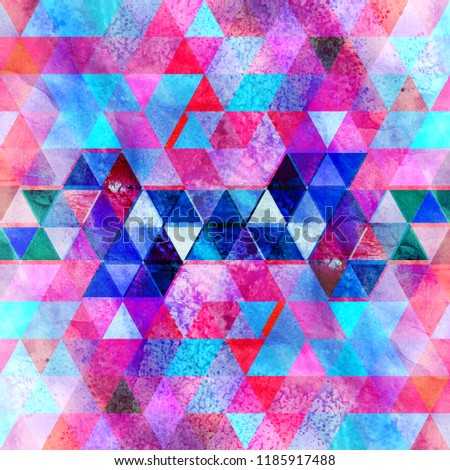 Graphic geometric background with abstract polygons for design
