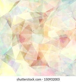 graphic geometric pattern with different colored triangles