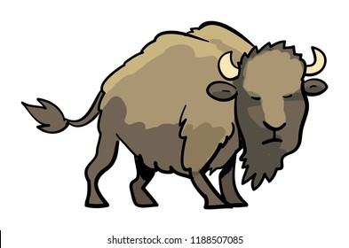 A graphic Icon of a bison