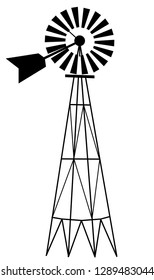 A graphic illistration of a farm windmill