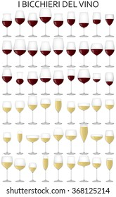 graphic illustration of the glasses of the wine