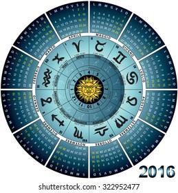 graphic illustration of the Italian wheel astral 2016