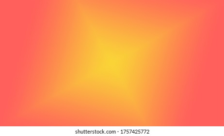 Graphic illustration of a light diamond beam. Colored Orange and Yellow background