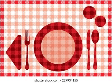 graphic illustration of a placemat