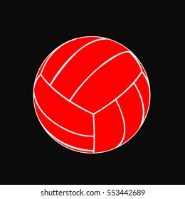 Graphic illustration of volleyball ball.