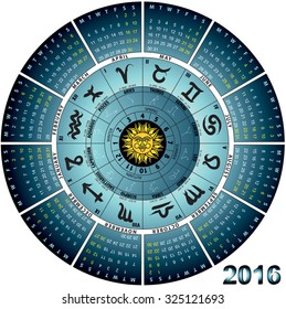 graphic illustration of the wheel astral 2016