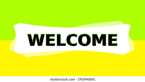 Graphic slide background with the inscription 3d welcome