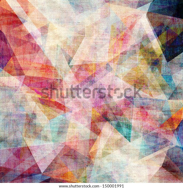 graphic textured background with different triangles of canvas