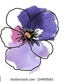graphic violet flower