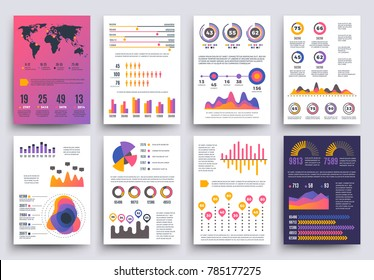 Graphical business report vector template modern stock vector graphical business report template with modern style charts and graphs info chart template of set flashek Choice Image