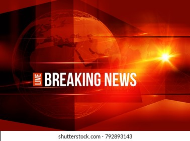 Graphical Colorful Live Breaking News Background. 3d render, 3d illustration