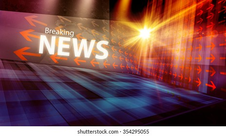 Graphical digital news background with arrows and news text